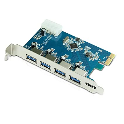Amazon.com: Anker Uspeed USB 3.0 PCI-E Express Card con 4 ...