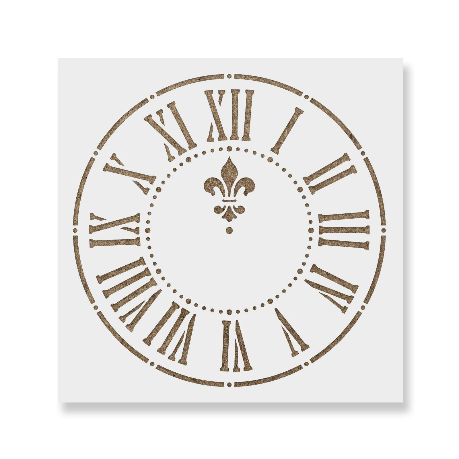 Clock Stencil Template - Reusable Stencil with Multiple Sizes Available