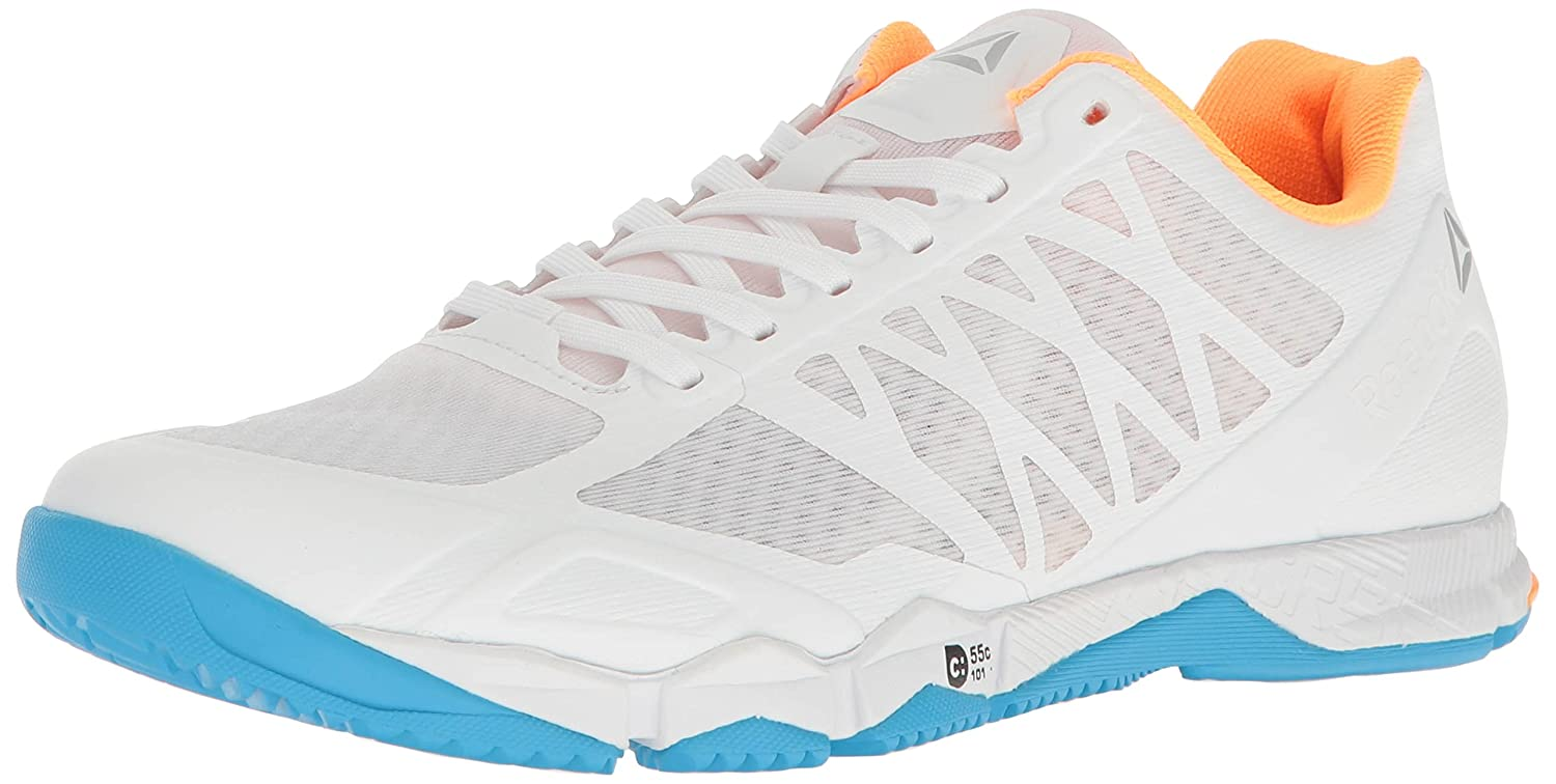 Reebok Women's Crossfit Speed Tr Cross-Trainer Shoe B01HH1YXW0 5 B(M) US|White/Black/Blue Beam/Fire Spark/Pure Silver