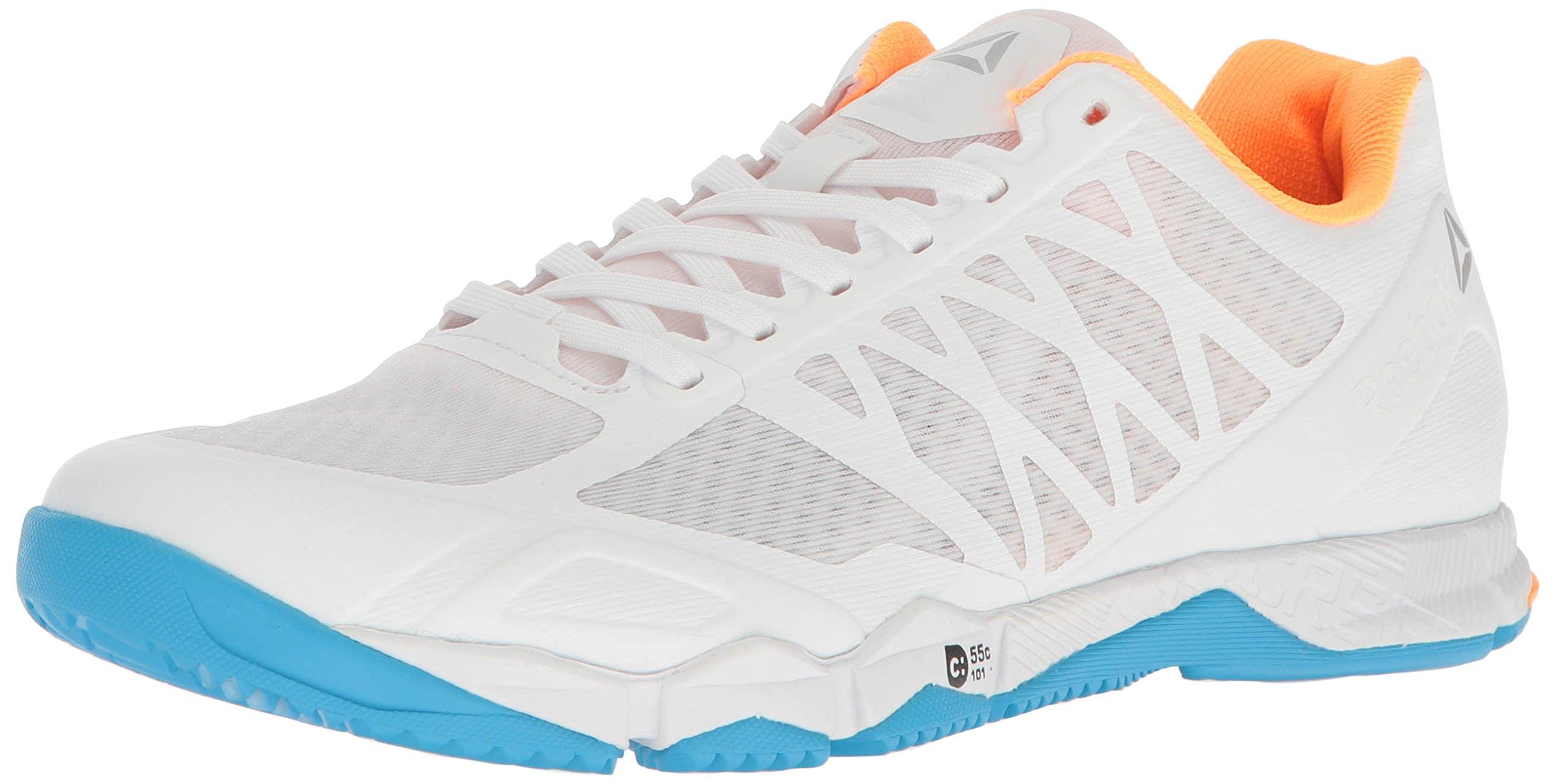 Reebok Women's Crossfit Speed Tr Cross-Trainer Shoe,White/Black/Blue Beam/Fire Spark/Pure Silver,8 M US