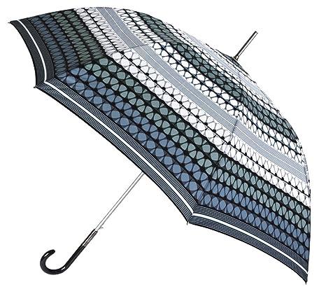 Paraguas Largo de señora de la Marca VOGUE. Original y Elegante Estampado geométrico. Paraguas