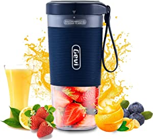 Mini Personal Portable Cordless Juicer, Small 10oz Juice Cup Smoothie Maker With USB Rechargeble Fruit Juicer Mixer for Travel,Office,Gym-IP68 Waterproof&BPA Freeith Magnetic Charging interface,BPA Free