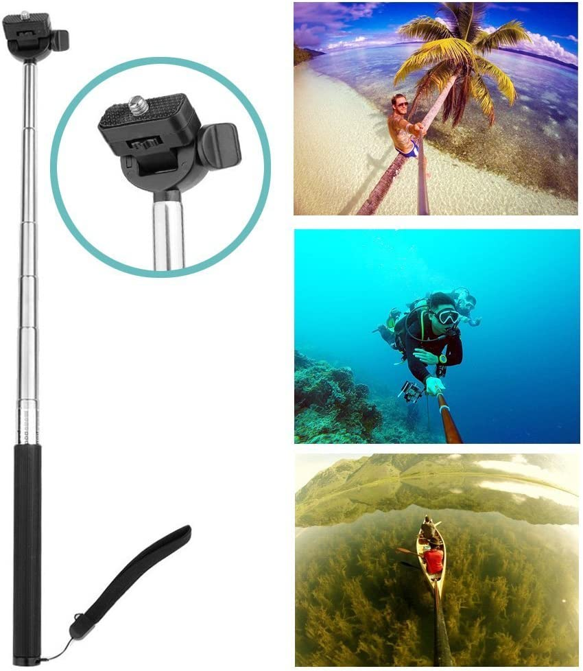 Navitech 60-in-1 Action Camera Accessories Combo Kit with EVA Case Compatible with The AEE 360 Proview Cam