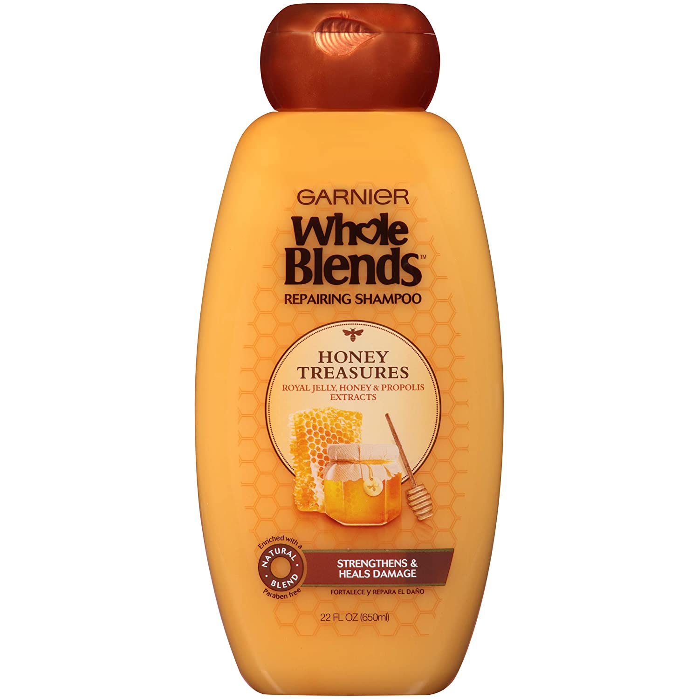 Garnier Whole Blends Repairing Shampoo Honey Treasures, For Damaged Hair, 22 Fl Oz (Pack of 1)