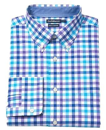 e2b72b888ab0 Croft   Barrow Men s Classic Fit Button-Down Dress Shirt Purple Blue  (15.5 quot