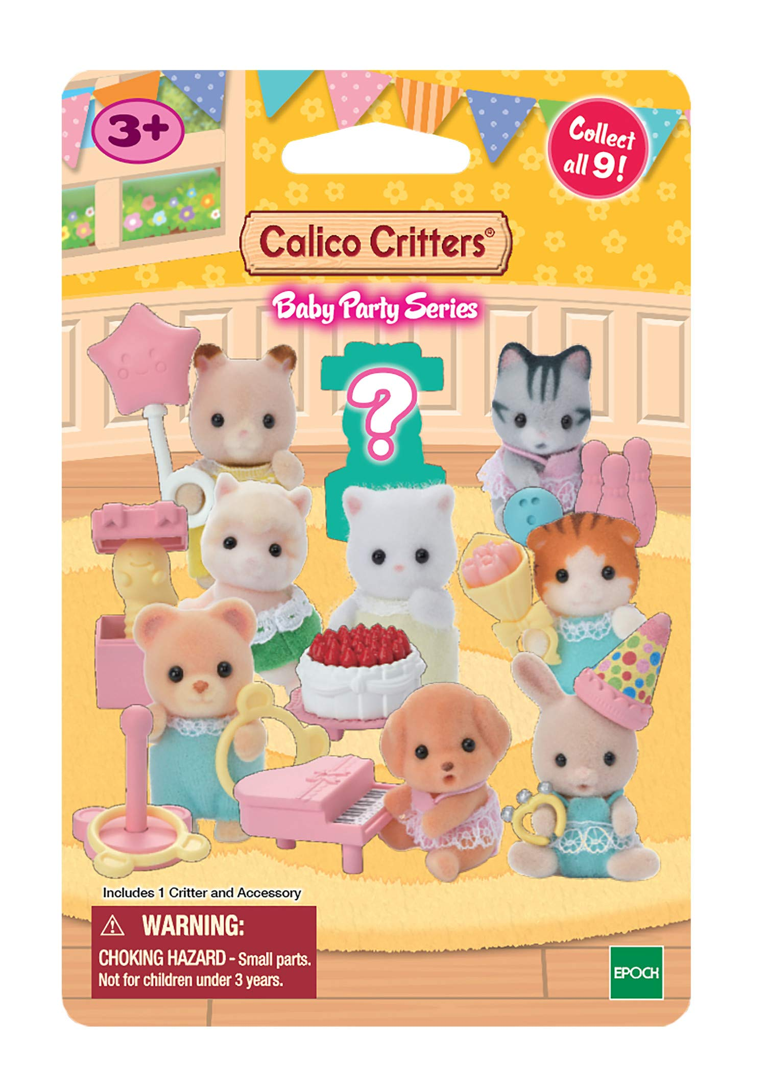 Calico Critters Baby Collectibles - Baby Party Series (Bundle of 3), Multi (CC1846)