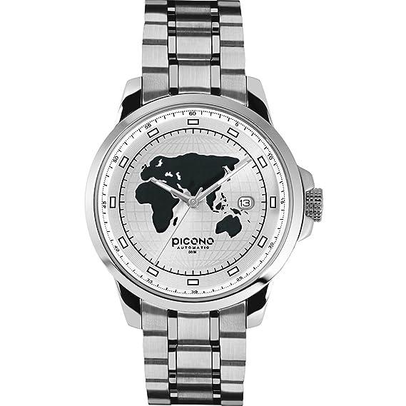 PICONO WD-99-01 - Reloj, correa de acero inoxidable