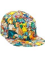 BIOWORLD Pokemon All Over Print Sublimated Snapback Cap Hat