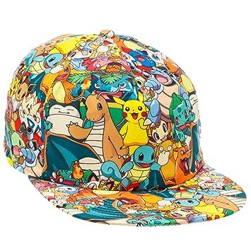 5209d34ebe4 Bioworld Pokemon All Over Print Sublimated Snapback Cap Hat  Amazon ...
