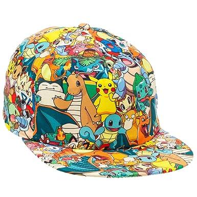 Pokemon Characters Allover Cap  Amazon.in  Clothing   Accessories e52f966ce65