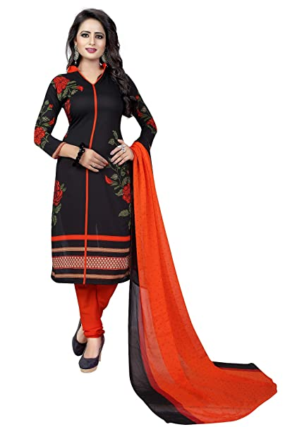 9a8b8bd31c CRAFTSTRIBE Indian Bollywood Women Polyester Unstitched Salwar Kameez Dress Suit  Material: Amazon.ca: Clothing & Accessories