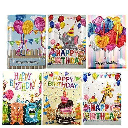 Elegante Juego de 6 Tarjetas de felicitación de cumpleaños ...