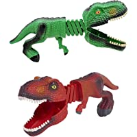 Crazy Hungry Dinosaur Shark Grabber Set of 2 Chomper with 12 Small Guys Figures Puppet T-Rex Claw Game Funny Toys for…