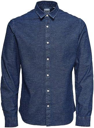 Only & Sons Onsted LS Slub Chambray Shirt Noos Camisa para Hombre
