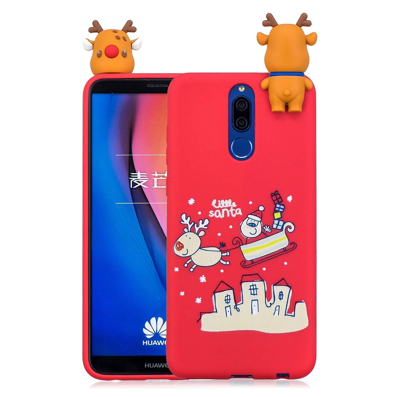 Noë l Coque pour Huawei Mate 10 Lite, É tui Silicone Huawei Mate 10 Lite, Huawei Mate 10 Lite Case Cartoon 3D Mignonne Motif Christmas Noë l Flocon de Neige Housse de Protection Étui Silicone Huawei Mate 10 Lite Okssud DYY2018002518#05