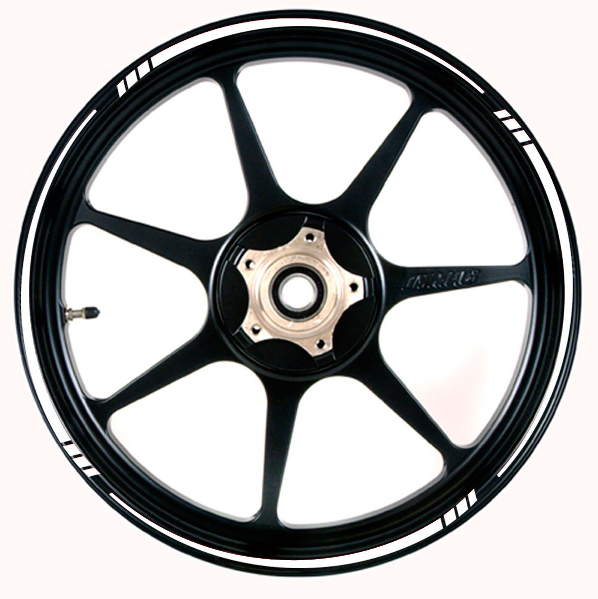 WHITE Wheel Rim Tape TAPERED Stripe fit ALL Makes of Motorcycles, Cars, Trucks