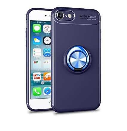 Leton Funda iPhone 6s Silicona Anillo Ring Azul Negro ...