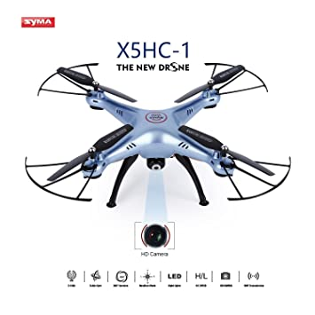 Drone con Cámara HD,Syma X5HC-1 Quadcopter Cuadricópteros con ...