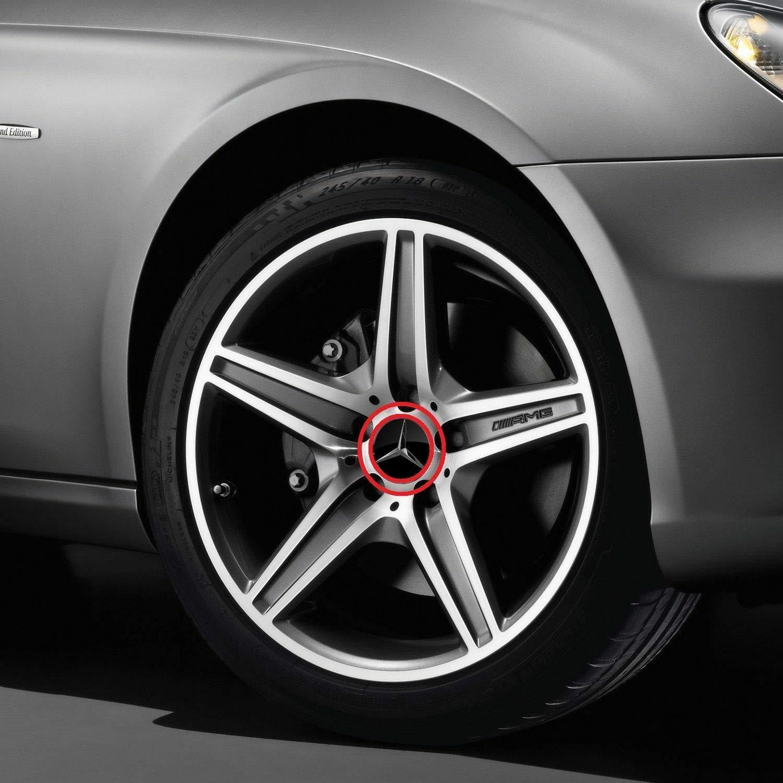 A2204000125 clase E clase C CL CLS SLK ML GLK Clase A C cromo Estrellas B66470200 4 x Original Mercedes Benz Cubierta de rueda Cubierta Tapa Tapacubos Cubierta del cubo de la rueda Wheel Tapa Cubiertas de eje de ruedas Tapa decorativa negro alto brillo