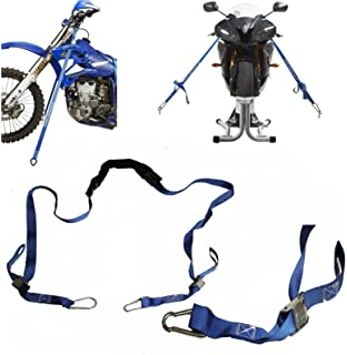 Motorcycle Motorbike Quad handlebar tie down trailer Ratchet Straps set of 2