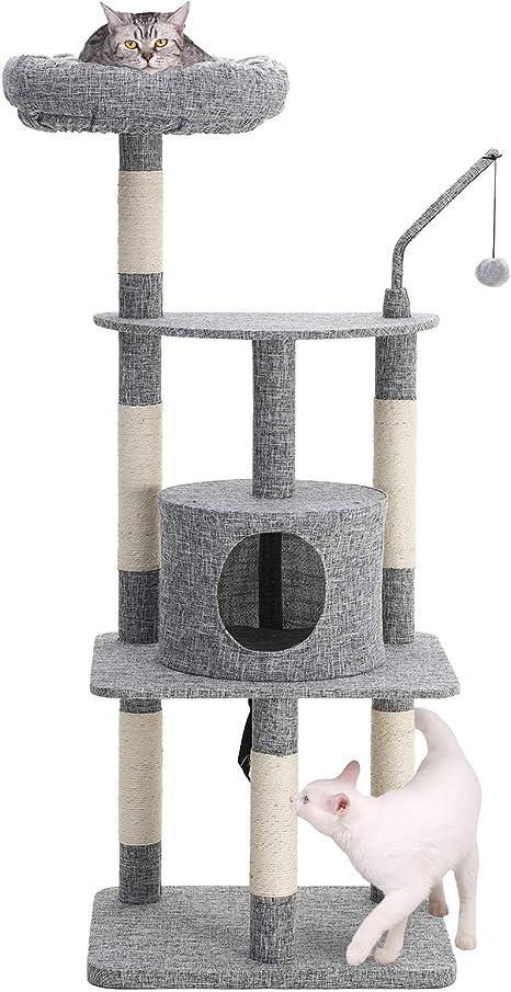 Amazon.com: SONGMICS - Árbol de gato de varios niveles con ...