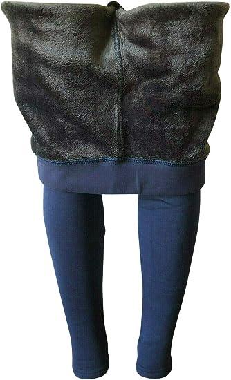 Womens Black//Gold Fleece Lined Warm Winter Leggings Small//Medium