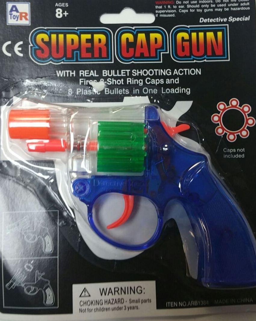 Super Cap Gun Toy 8 Bullets MTC
