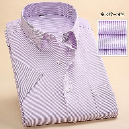 NSSY Camisa de Hombre Hombres de Calidad de Verano Camisa de Vestir de Manga Corta a Rayas Camisas Masculinas sólidas Ropa de Negocios Formal para Hombre Camisa Blanca, 4XL: Amazon.es: Hogar