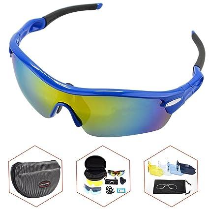 Amazon.com: Gafas de sol polarizadas deportivas, marco TR90 ...