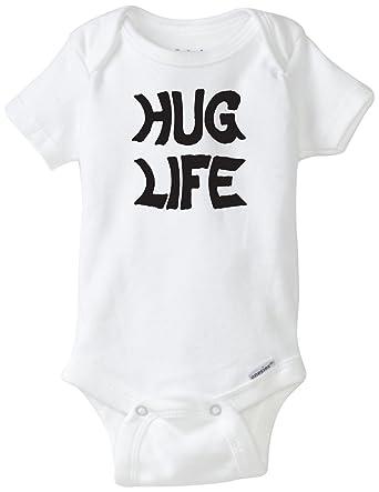 cd550251c BLAKENREAG Hug Life Funny Baby Onesie Baby Boy Girl Clothes Bodysuit (6  Month)