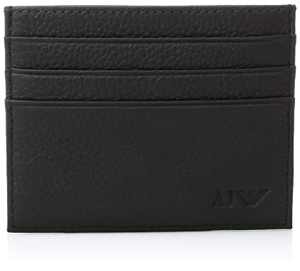 los angeles f64e7 eb21d Armani Exchange Men's Leather Credit Card Holder, black ONE SIZE at ...