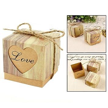 Itian Para dulces bombones Caja kraft de boda regalo Caja: Amazon.es: Electrónica
