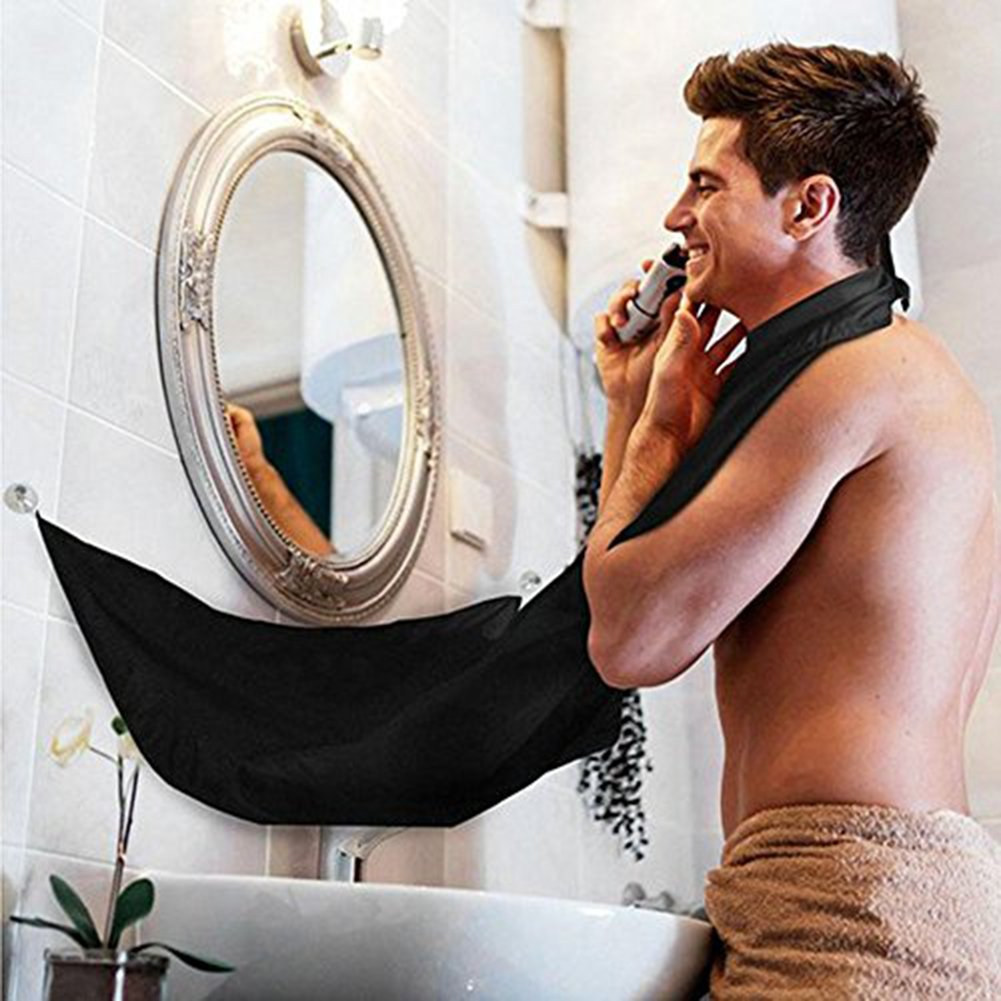 LINSUNG Rasage Toilettage Tablier avec 2 Coupes Miroir daspiration Laissez votre salle de bains nettoyer
