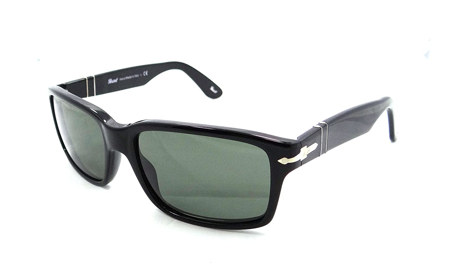 bdcc83dbfe Amazon.com  Persol Sunglasses 3067 S 95 31 57x18 Black   Grey Green Lens  Made in Italy  Clothing