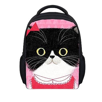 12 Inch School Backpack for Girls Boys Cartoon Cat School Bags Backpack Kindergarten