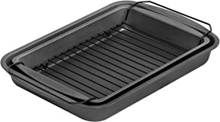 product image for G & S Metal Products Company ProBake Teflon Nonstick Bake, Broil, and Roast Pan, 3-Piece Set, Charcoal
