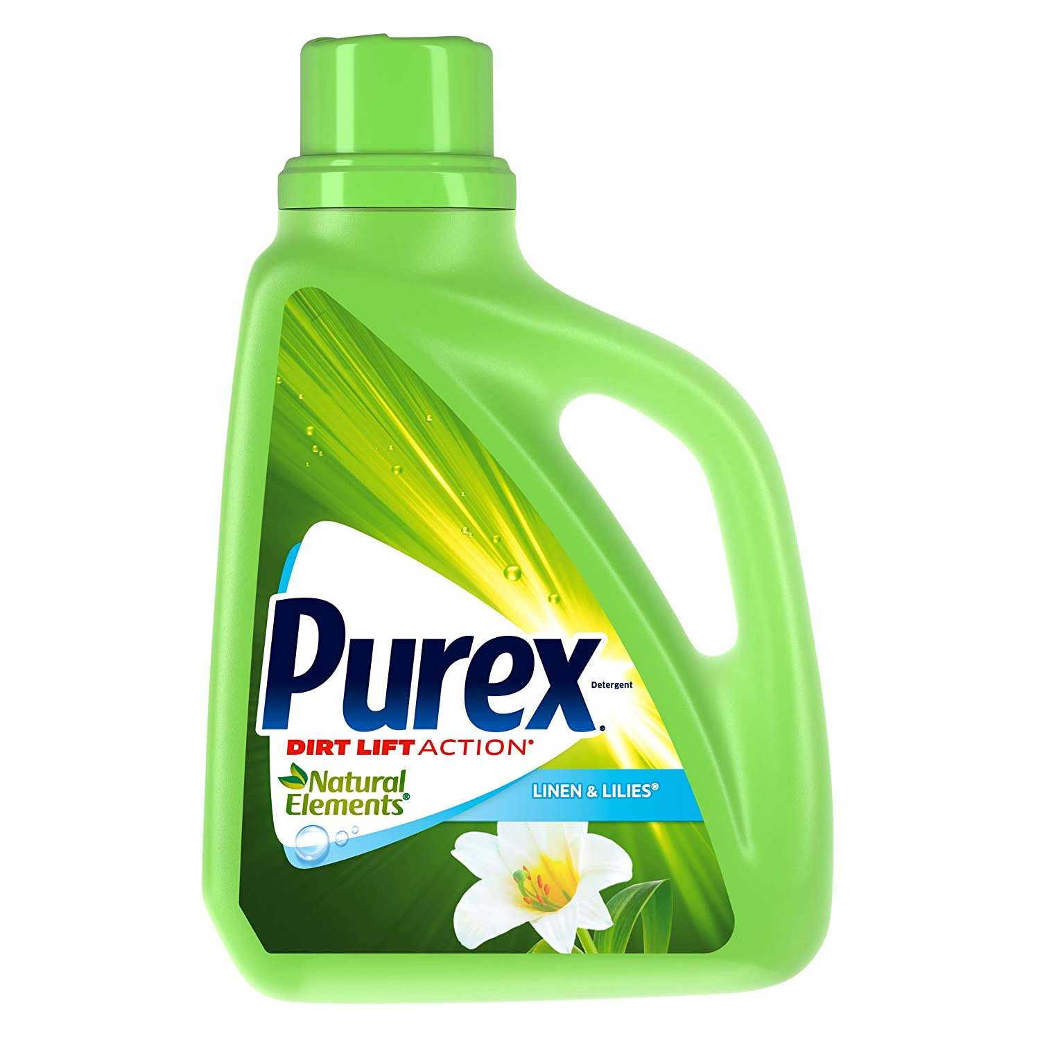 Purex Liquid Natural Elements Laundry Detergent, Linen & Lilies, 75 oz (50 loads)