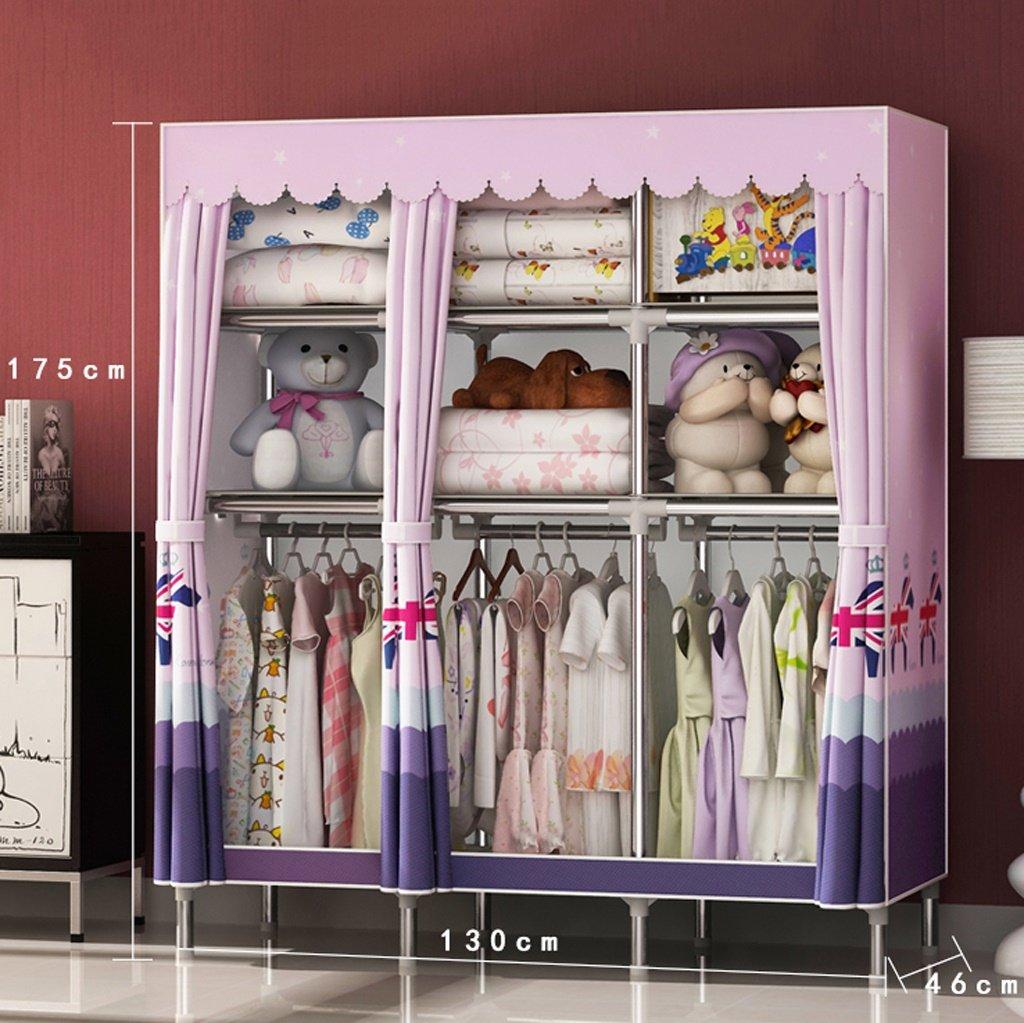 MMM Guardarropa Simple Armario de Almacenamiento Simple Moderno del Armario de los niños del hogar Simple del niño (Color : 2)