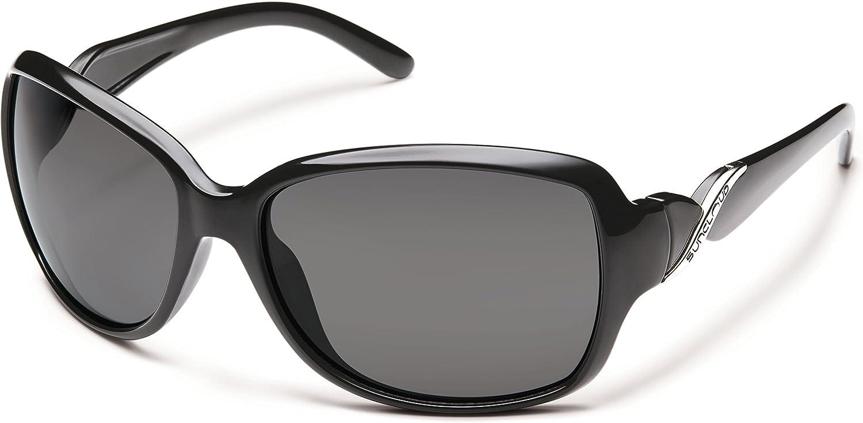 NEW Suncloud sunglasses Weave Black Grey Polarized Women/'s Medium-Large FASHION