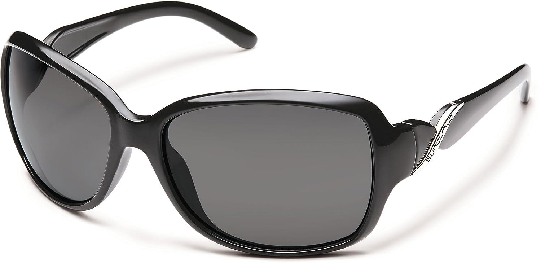 Suncloud Polarizedサングラス織りブラックグレーのレンズ   B00QXER6NG