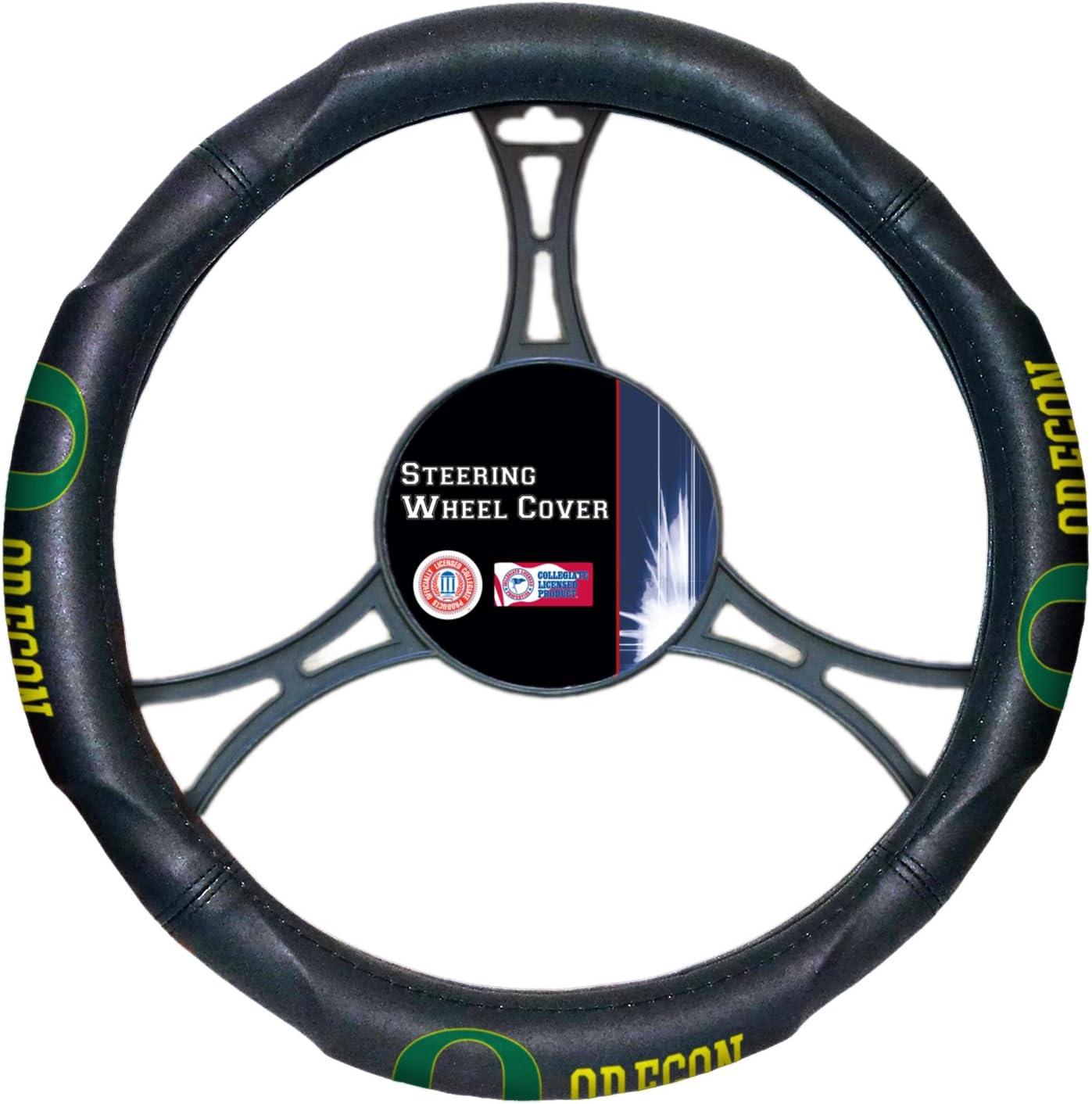 FANMATS NCAA University of Oregon Ducks Polyester Steering Wheel Cover