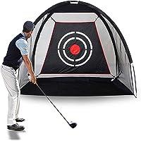 TZUTOGETHER Siatka do ćwiczeń golfowych, długość 2 m, składana klatka do ćwiczeń, Driving Hitting Net pomoc w treningu…