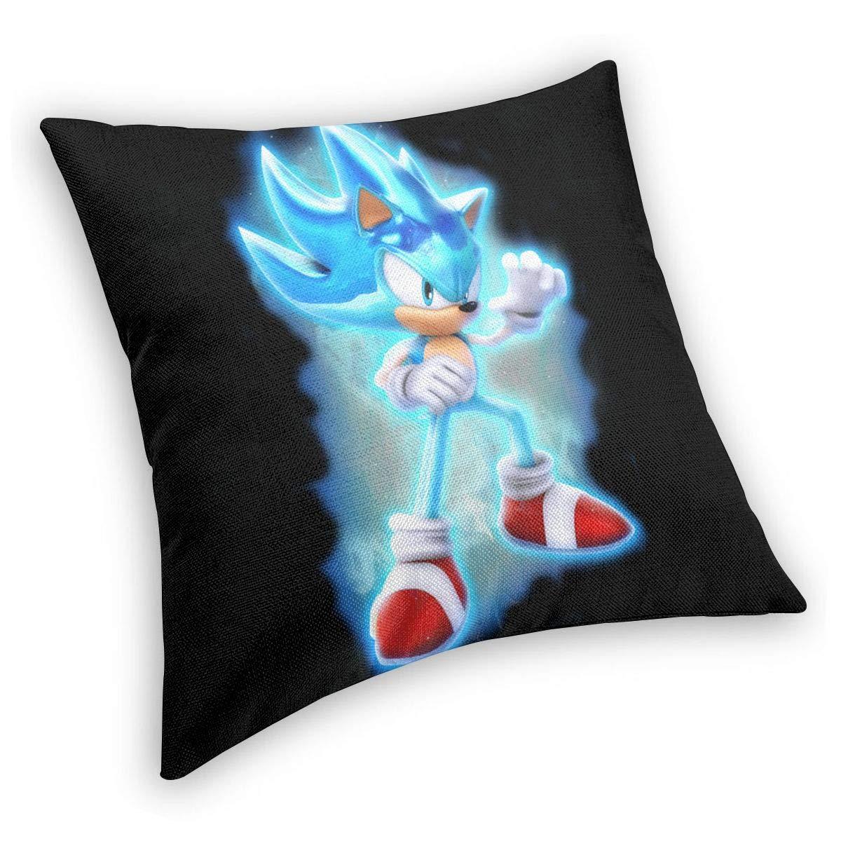 Super Soft Velvet Throw Pillowcases Stain Resistant Modern Zippered Cushion Covers for Winter Bedding Sofa 18x18 Inch Super Blaze The Cat Burning Render Fan Art