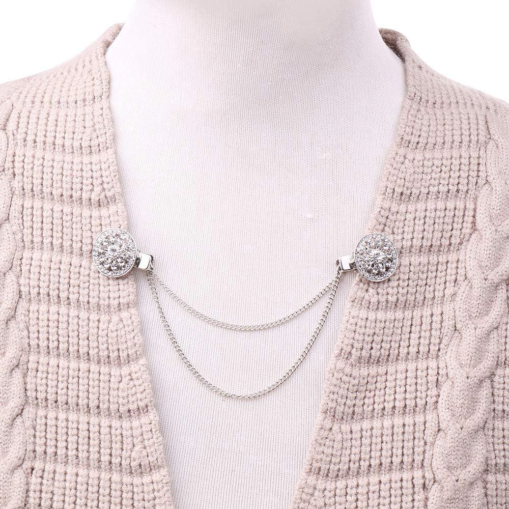 AKKi jewelry Damen Pullover-Clip Kragen Strick-Jacke Cardigan Schal blusen Clips Pullovers metallclips f/ür brosche Nadel