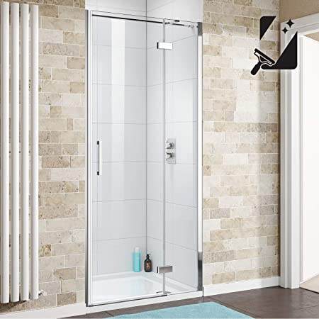 900 x 900 mm baños de estilo moderno con bisagras fácil de limpiar + juego de plato de mampara de ducha: iBathUK: Amazon.es: Hogar