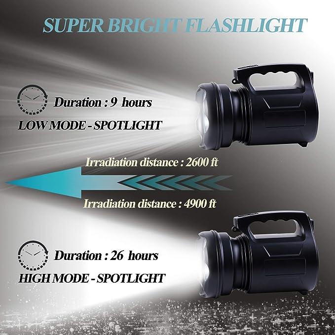 Extérieure Yomer Spotlight Bank Bright Rechargeable 15000ma Tente Lampe Super Lantern De Portative Torche Power Camping Led Searchlight Poche QrdsothCxB
