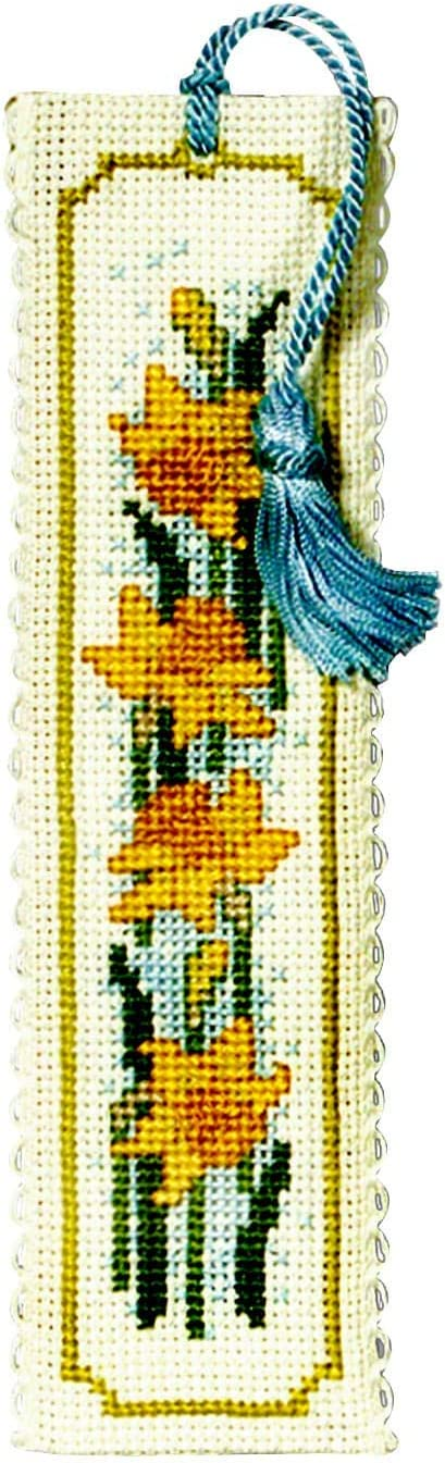 Daffodils Bookmark Counted Cross Stitch Kit from Textile Heritage cross stitch bookmark daffodils Flower floral Needlework Kit