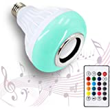 AmeriLuck LED Music Light Bulb with Built-in Bluetooth Speaker, E26/27 Base, 24 Keys Remote Control