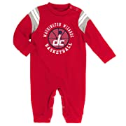 NBA Newborn  Referee  Coverall Washington Wizards-Red-0-3 Months