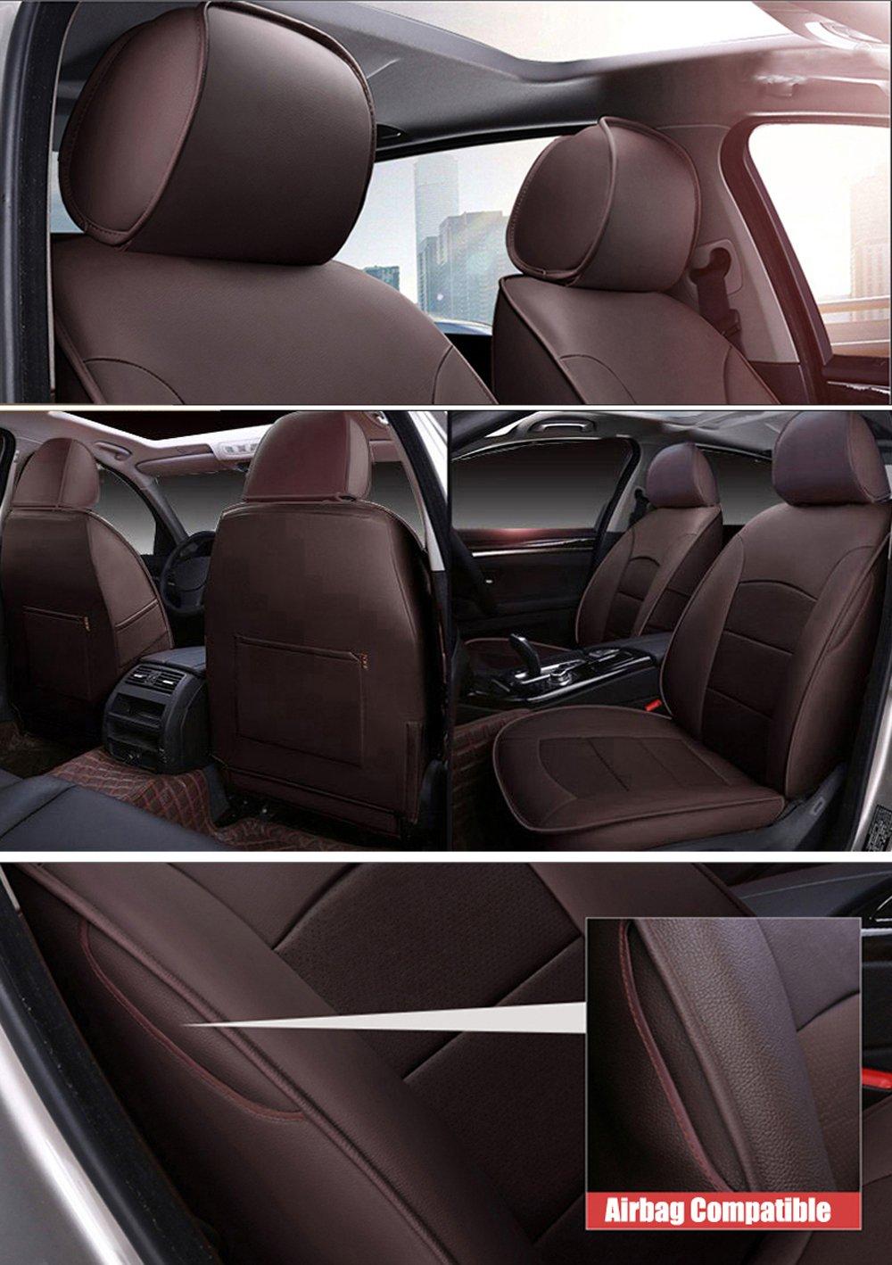 Amazon Com Autodecorun 16pcs Set Genuine Leather Leatherette Car